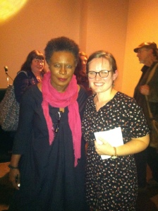 With Claudia Rankine. After the December 6 reading at Cine in Athens, GA.